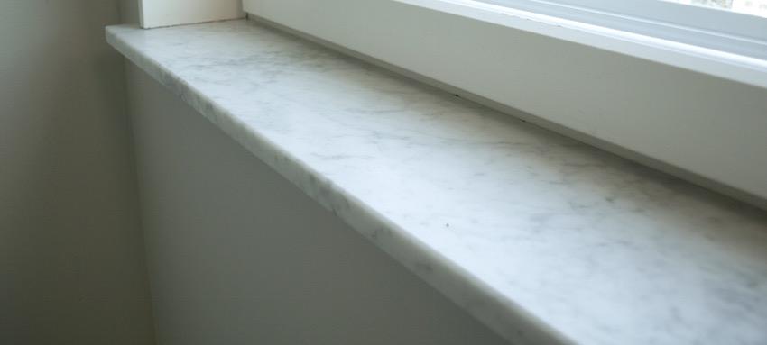 Montera fönsterbänk marmor